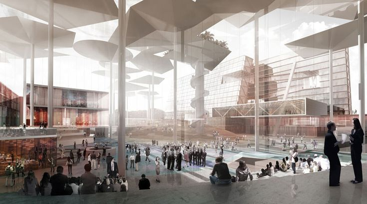Milan, Italy... Concepts for a modern city... OMA bocconi urban campus proposal