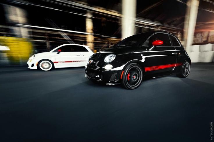 2012 Fiat 500 Abarth--oh, how I wish I had a black Fiat 500 Abarth!
