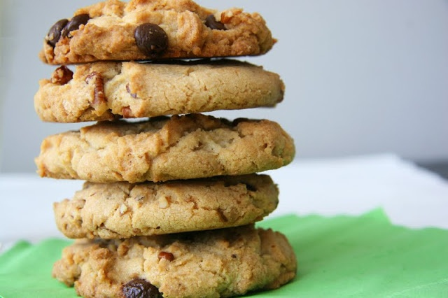Chocolate Chocolate Chip Pistachio Cookies With Toffee ...