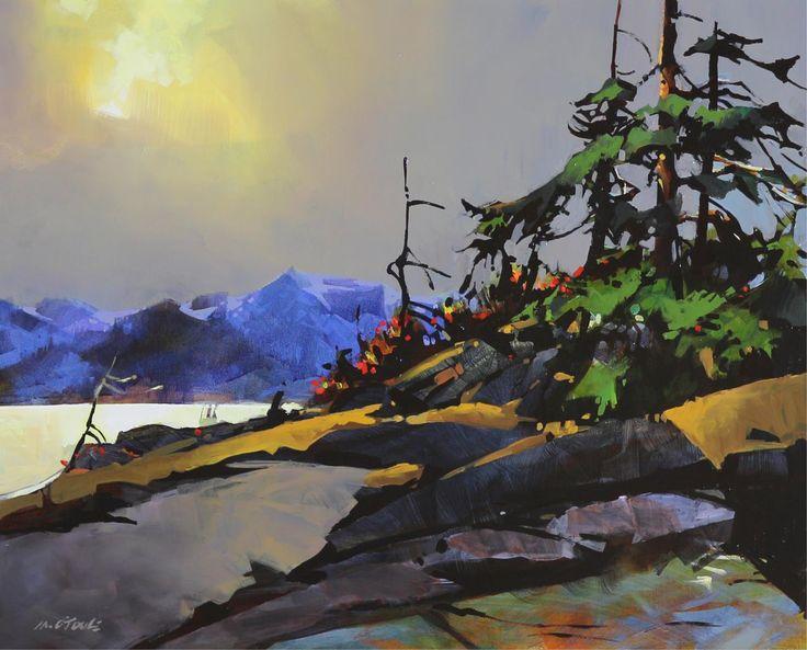 Michael O'Toole (1963-) - Burst of Light (On Georgia Strait)