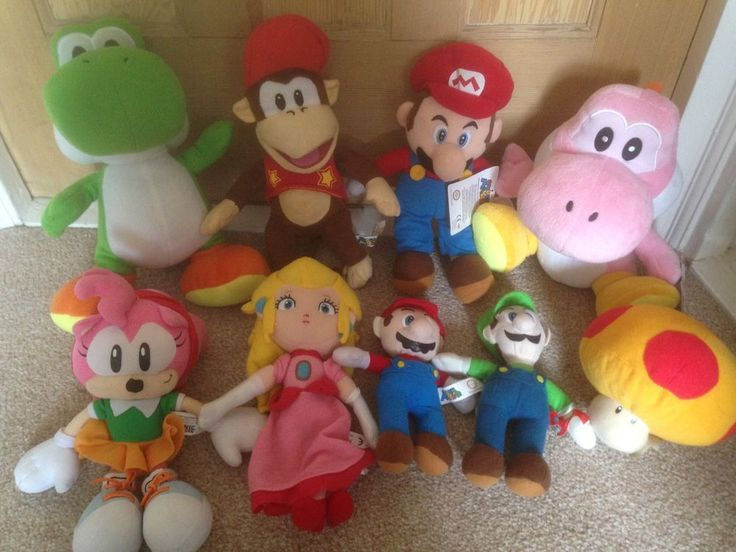 Nintendo Mario Soft Plush Toy Bundle