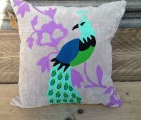 Alayna Lilac Velvet Square Cushions | Little Trove