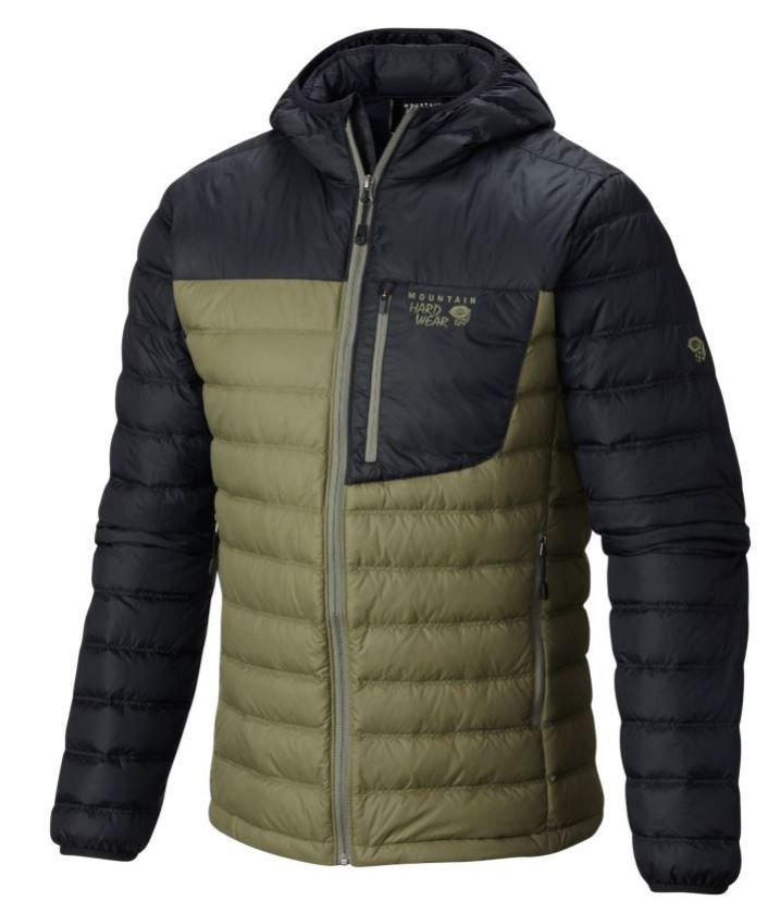 Mountain Hardwear Dynotherm Down Hooded Jacket - Underbrush/Shark