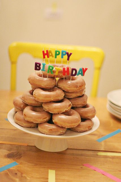 Mmm... I want this for my birthday too. A deviation from the usual cake. Either J.Co or Krispy Kreme Donuts is a good idea.