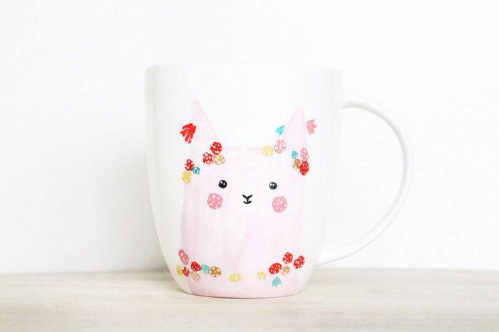 Alpaca Mug - Happy and Sad - Handpainted original illustration Llama - Tea Coffee Cup - Pompom Tassel Porcelain Mug - Fine Bone China Kawaii by PIETenKEES on Etsy https://www.etsy.com/ca/listing/259998633/alpaca-mug-happy-and-sad-handpainted