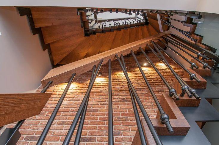 Nasz projekt i realizacja. Beton/drewno/metal i cegła :) #stairs #stairsdesign #schody #beton #cegła #interior #artecubo