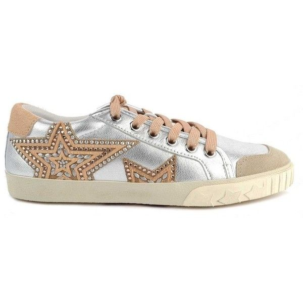 ed1cac6f0e4 Ash Magic Star Trainers - Silver Beige (€210) ❤ liked on Polyvore featuring