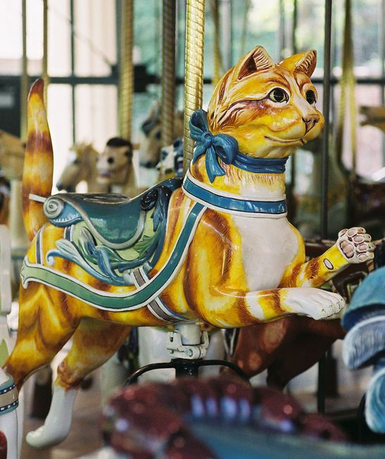 Golden Gate Park Carousel - Herschell-Spillman Cat 2nd Row Jumper
