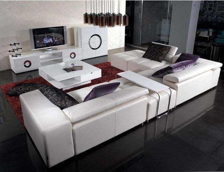 25 best ideas about modern leather sofa on pinterest for Brown corner sofa living room ideas