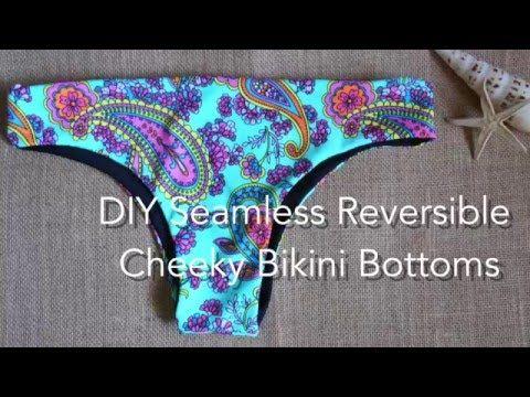 DIY Seamless Reversible Cheeky Bikini Bottoms - YouTube