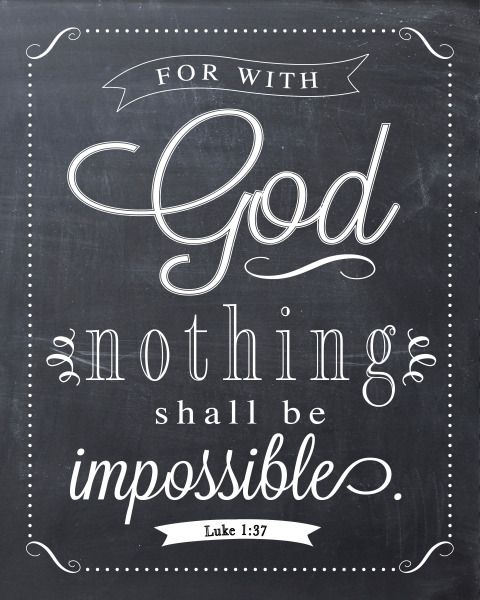 Luke 1:37 Free Printable