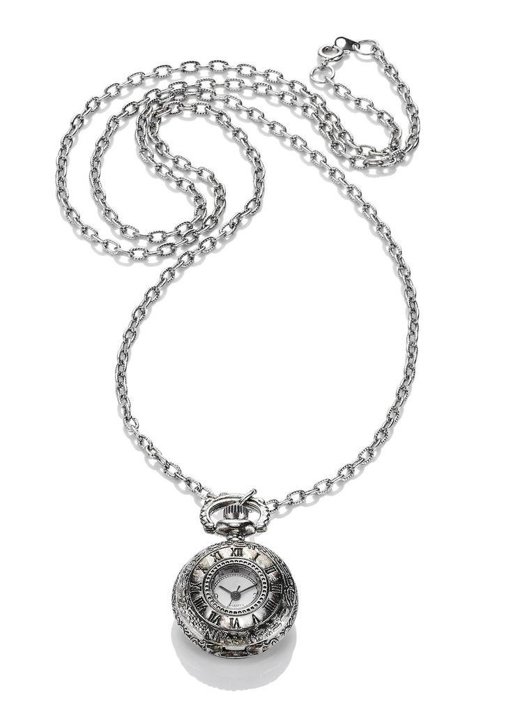 Collana orologio «Antica» Argento - bpc bonprix collection è ordinabile nello…