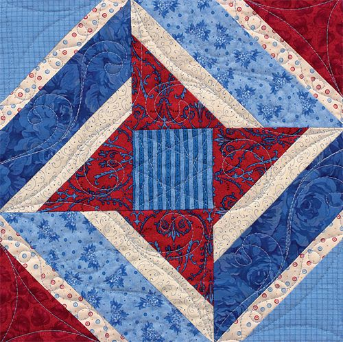 Love this string quilt star block.
