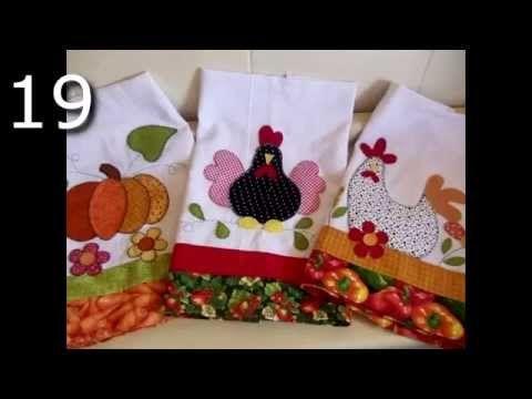 20 Bonitas Toallas De Cocina Bordadas En Patchwork - YouTube