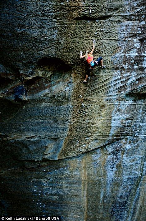 Climbing is life - Sasha DiGiulian on a route in Red River Gorge, KY. | #lyoness