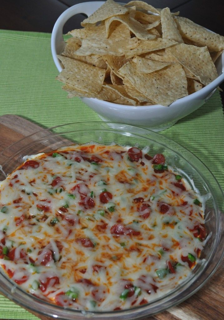 Pizza Dip- Quick and easy appetizer that is great for game day or any day. This is always a crowd favorite!