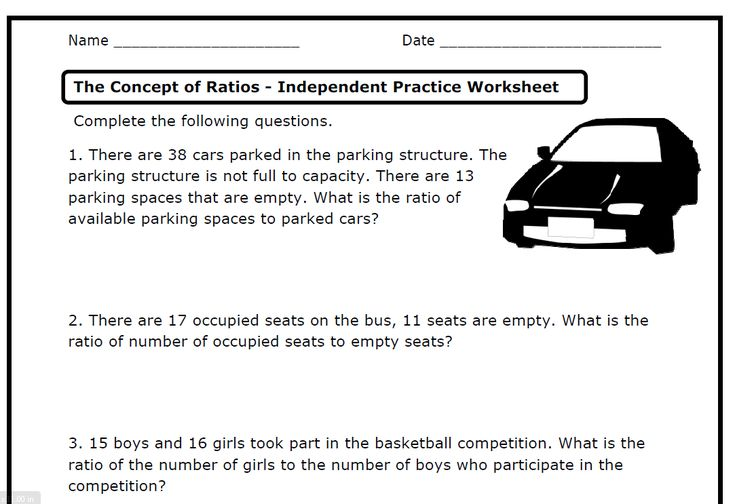 Ratios And Proportions Free Printable Worksheets
