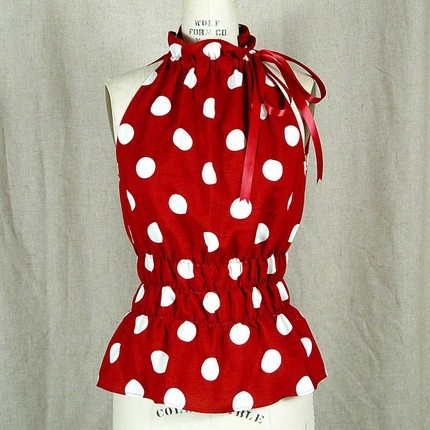 Polka Dots:: idea for a simple top