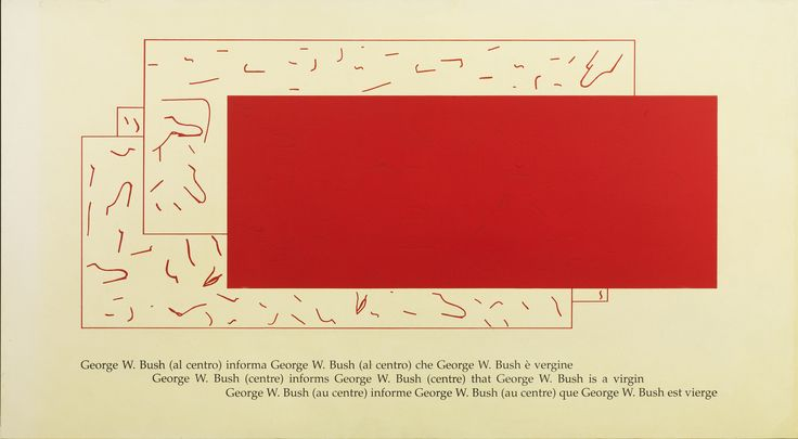 Bush informs, 2004, acrylic on canvas on panel, cm 110 x 120 / in 43.30 x 78.74, Courtesy Tornabuoni Art