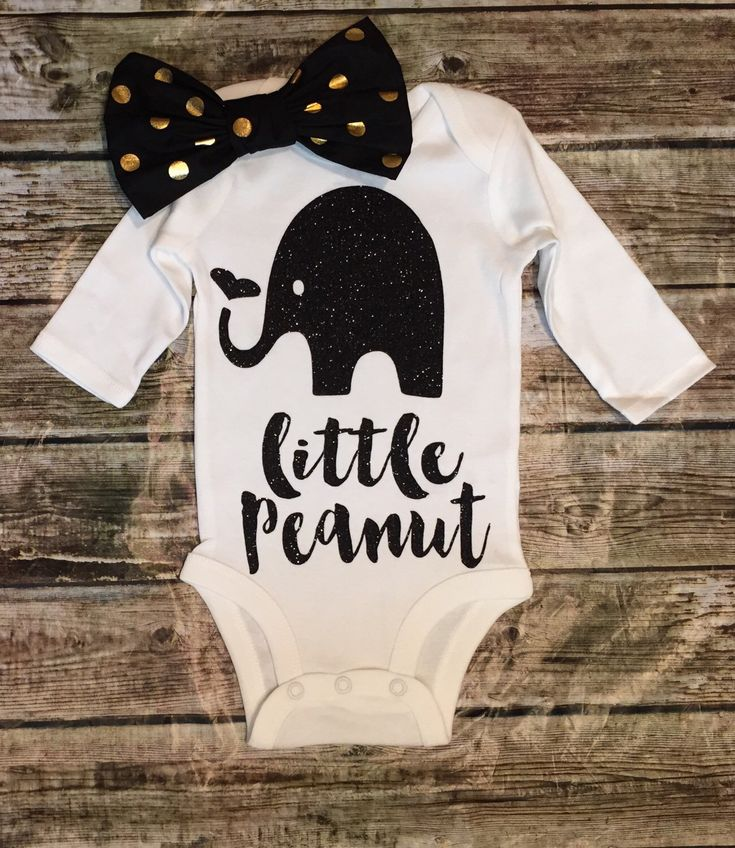 A personal favorite from my Etsy shop https://www.etsy.com/listing/250204046/elephant-onesie-little-peanut-onese-baby