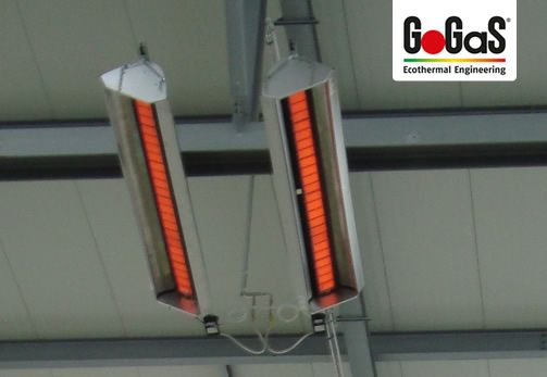 GoGaS High intensity heater KMI: The KMI is also available in pivoting and rotating versions. For further information visit www.radiantheating.de  or www.hellstrahler.ruhr.