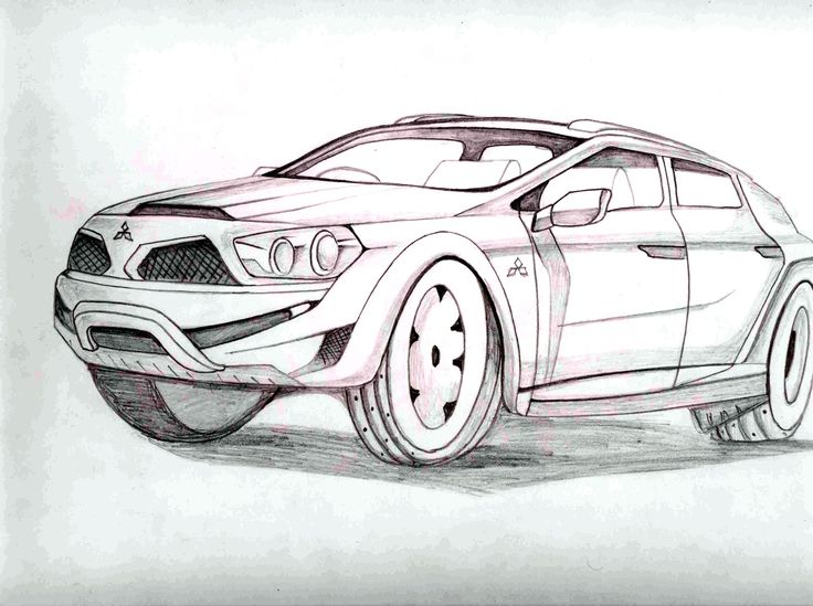 easy pencil drawings of cars - photo #13