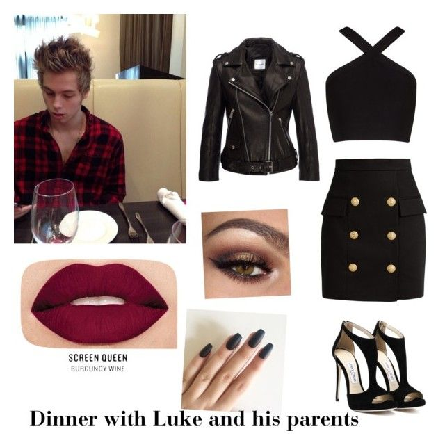 Dinner with Luke and his parents by sabrina-carreiro on Polyvore featuring polyvore, moda, style, BCBGMAXAZRIA, Anine Bing, Balmain, Smashbox, fashion and clothing