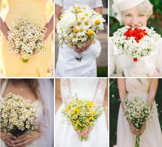 Bouquet da sposa di margherite, fiori matrimonio
