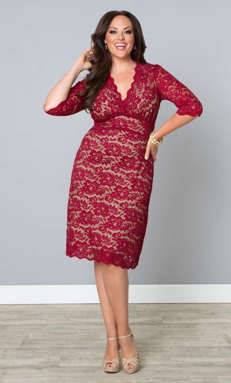 Fashion Shops, Boudoir Lace, Curvy Fullfigure, Boudoir Kanten, Curvalicious Clothing, Red Lace Dresses, Bbw Curvy, Fashionista Style, Beautiful Fashionista