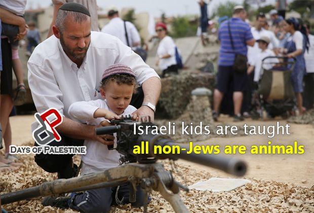 "Video: Anak-anak ""Israel"" diajari semua non-Yahudi adalah kriminal  BERLIN (Arrahmah.com) - Sebuah jaringan berita Jerman rencananya akan menyiarkan film dokumenter yang berjudul 'Pengajaran unuk Membenci?' untuk menunjukkan bagaimana anak-anak ""Israel"" diajarkan untuk membunuh warga Palestina.  Film dokumenter yang akan disiarkan pada ZDF akan membuat perbandingan antara bagaimana anak-anak Palestina dan anak-anak ""Israel"" dididik di sekolah-sekolah.  Orang Arab dan orang Palestina dalam…"