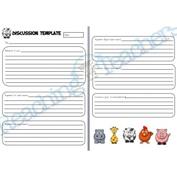 Discussion Template