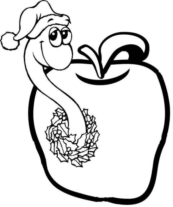 Free Worms Coloring Pages Printable Apple Coloring Pages Animal