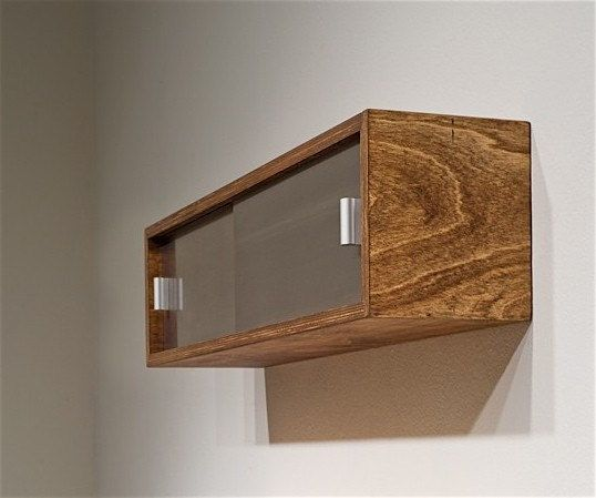 Single Floating Shelf With Sliding Doors By Commontype On