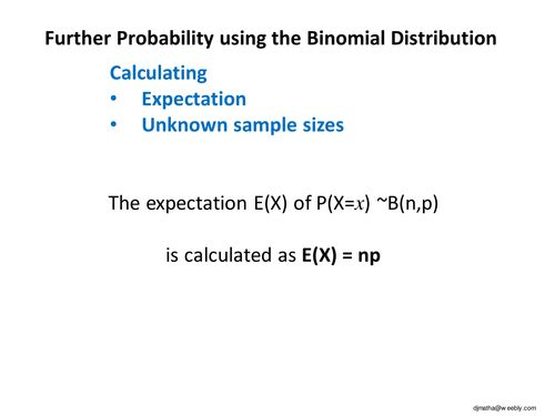 Further Binomial Distribution.ppt