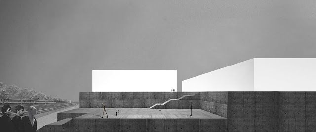 Pabellón para la práctica del hockey y el voleibol by ALBERTO CAMPO BAEZA (Zúrich, Switzerland ) #architecture