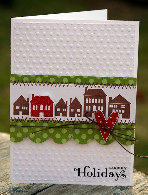 Happy Holidays House Card. Would be cute for a welcome to the neighborhood or housewarming card, too