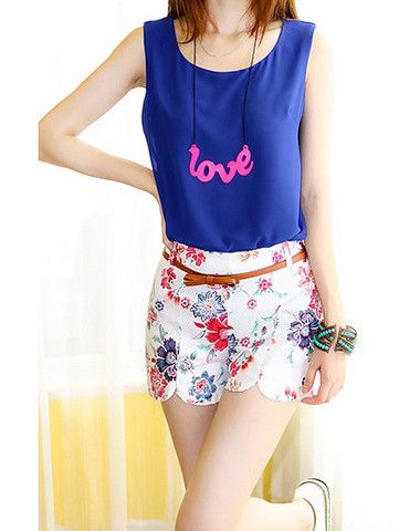 Vintage Style Floral Print Hot Pants Shorts For Women – teeteecee - fashion in style