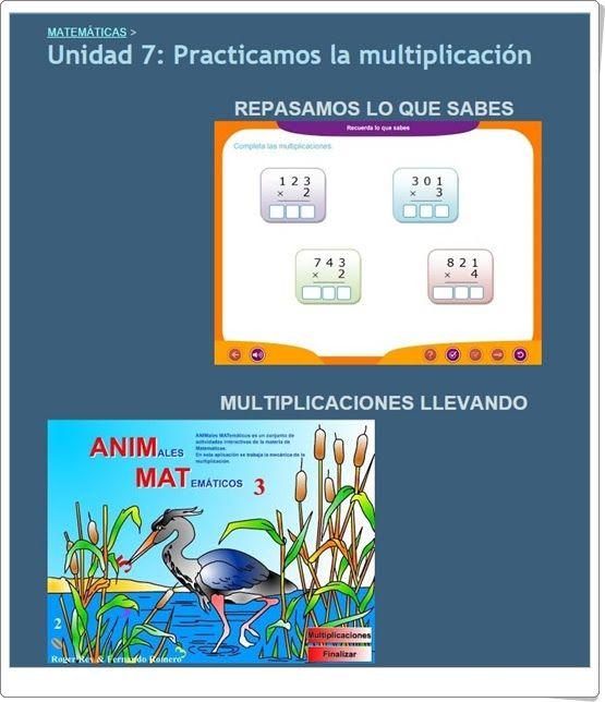 """Unidad 7 de Matemáticas de 3º de Primaria: """"Practicamos la multiplicación"""""""