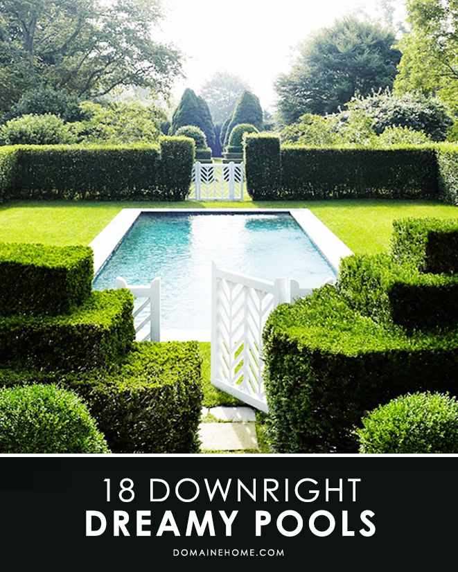 18 Downright DREAMY PoolsBoxwood Hedges, Swimming Pools, Blue Interiors, Dreams, Formal Gardens, Outdoor Room, Pools Gardens, Landscapes Design, Backyards