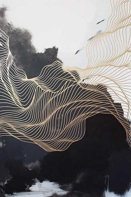 Moderne abstrakte Leinwandmalerei – Design / Lin…