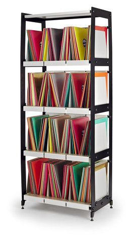 Lp V4 Vinyl Record Shelving Four Tier Tower Vinyl Record