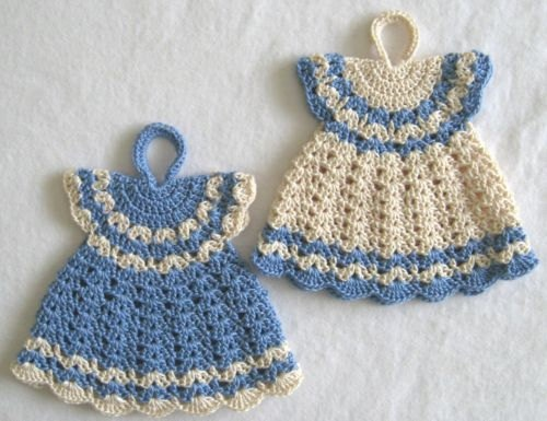 SET of TWO Crocheted / Handmade Winter Dresses by mingazova, $10.00