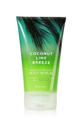 Bath & Body Works Signature Collection Supercharged Body Scrub Coconut Lime Breeze by Bath & Body Works. $8.49. Mid: Watery Melon notes, Sheer Muget, Pineapple Juice, Jasmine Petals, Lime Blosso. Massage onto skin, rinse, and enjoy softer, smoother skin. Dry: Sheer Coconut Water, Sandalwood, Musk, Madagascar Vanilla. Size: 9.5oz or 269g. Coconut Lime Breeze is a fresh blend of coconut water, lime blossom and bergamot inspired by a tropical breeze of exotic fruit...