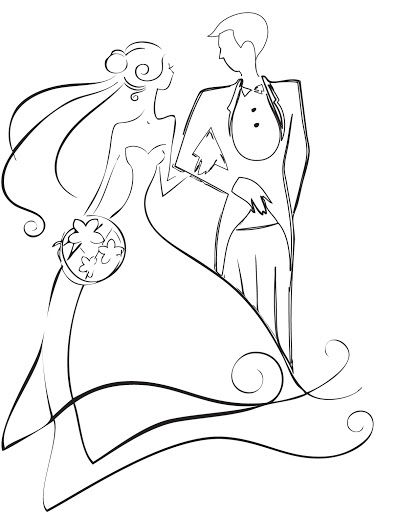 Wedding Card Line Art Designs : Best images about bride clipart on pinterest wedding