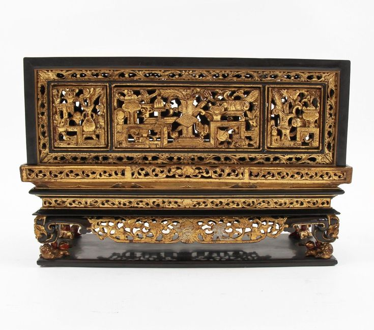 Antique Original oriental,Chinese wooden lacquered chanab offering box late 19Th | eBay