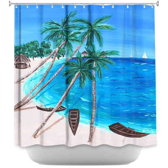 Shower curtain Tropical Shower Curtain  by ArtByChristinaDudycz