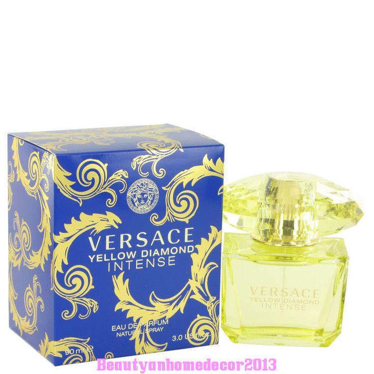 YELLOW DIAMOND INTENSE by VERSACE Perfume for Women * EDP * 3.0 oz NIB Sealed #Versace