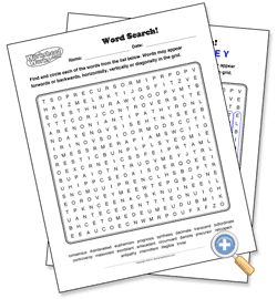 make your own search a word puzzles with sight words, vocab words, etc.