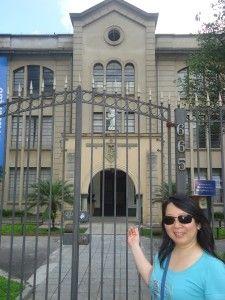 A entrada do Colégio Assunção, um dos mais tradicionais da cidade. A princípio, era um colégio só para meninas, o que foi mudado ao longo dos anos.