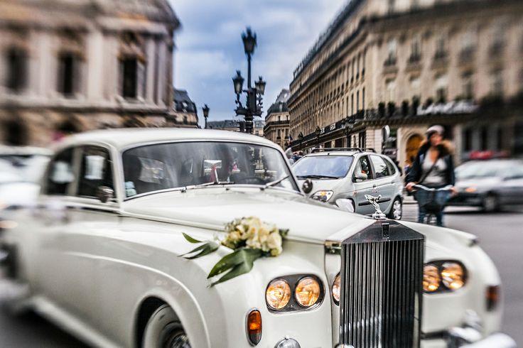 Paris wedding rolls - royce car france yulikov